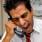 angry on phone