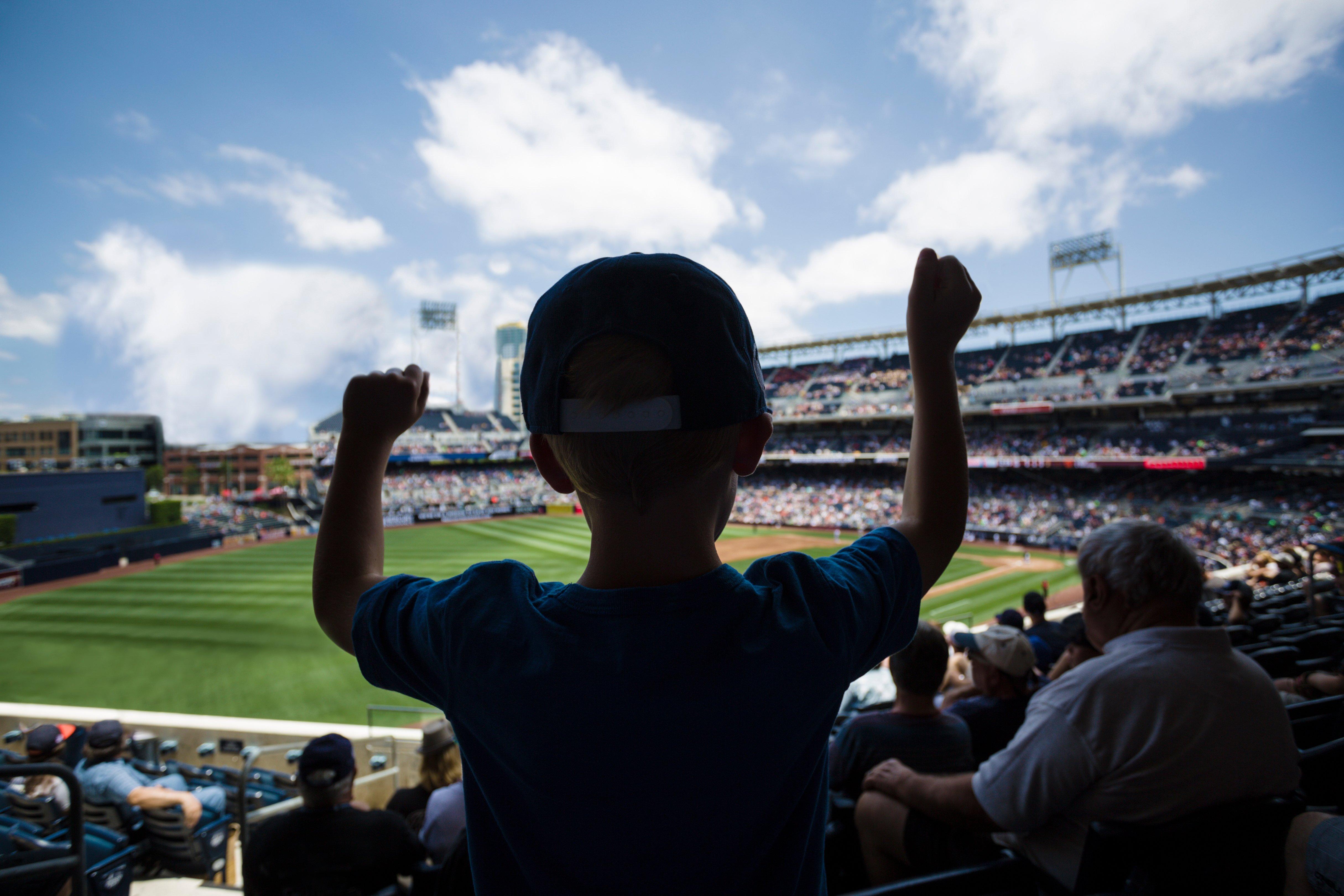 kid at baseball game